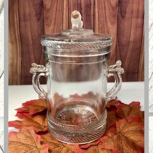 Antique 1880's Lion Glass Dish